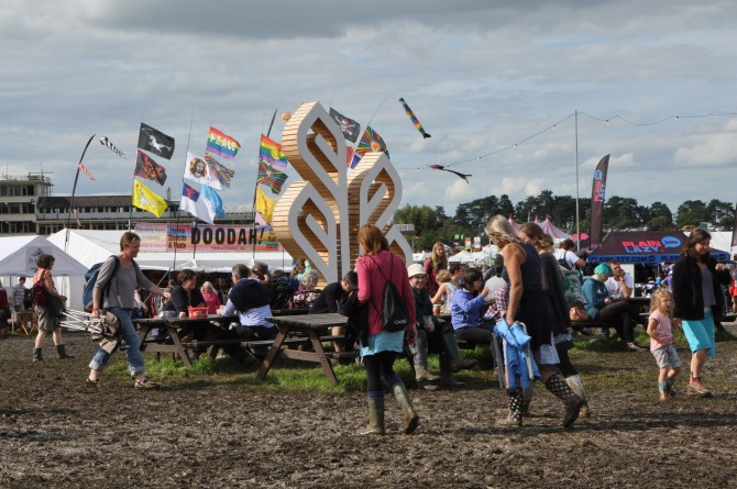 A photo of Greenbelt 2012's muddy grass!